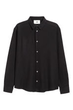 Silk shirt - Black - Men | H&M 2