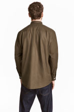 Silk shirt - Khaki brown - Men | H&M 4