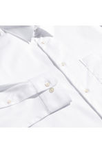 Pima cotton shirt - White - Men | H&M CN 3
