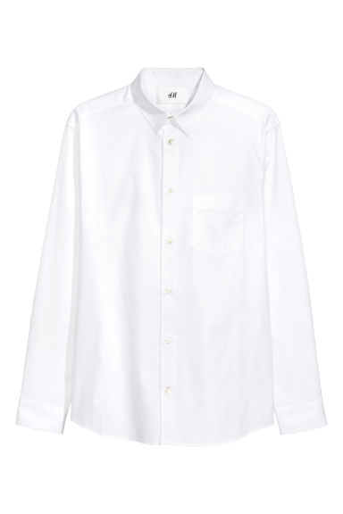 Pima cotton shirt - White -  | H&M