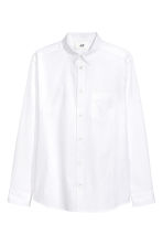 Pima cotton shirt - White - Men | H&M CN 2