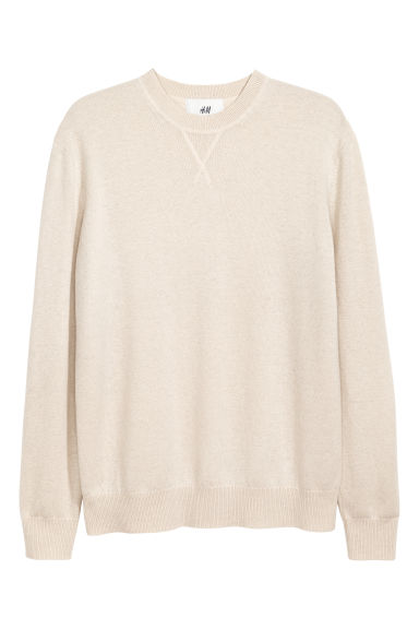 Cashmere jumper - Light beige - Men | H&M IE 1