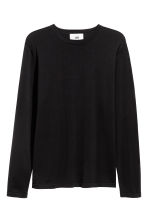 Silk-blend jumper - Black - Men | H&M 2