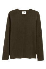Silk-blend jumper - Khaki brown - Men | H&M 1