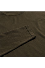 Silk-blend jumper - Khaki brown - Men | H&M CN 2