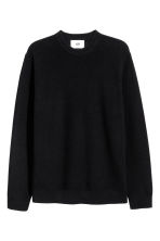 Pullover in misto lino - Nero - UOMO | H&M IT 1