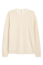 Linen-blend jumper - Natural white - Men | H&M 2