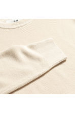 Linen-blend jumper - Natural white - Men | H&M 3