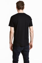 Cotton and silk T-shirt - Black - Men | H&M 4
