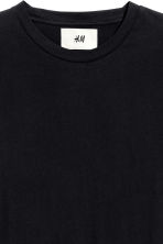 Cotton and silk T-shirt - Black - Men | H&M 5