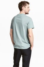Cotton and silk T-shirt - Light petrol - Men | H&M 4