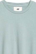 Cotton and silk T-shirt - Light petrol - Men | H&M 5