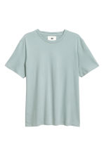 Cotton and silk T-shirt - Light petrol - Men | H&M 2