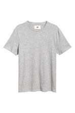 棉質真絲T恤 - Grey marl - Men | H&M 1
