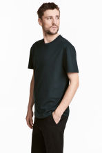 Pima cotton T-shirt - Black - Men | H&M 4