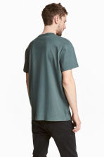 Pima cotton T-shirt - Grey green - Men | H&M CN 4