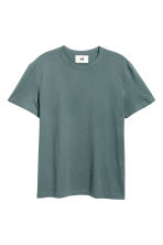 Pima cotton T-shirt - Grey green - Men | H&M CN 2