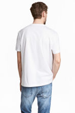 Pima cotton T-shirt - White - Men | H&M CN 4