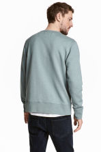 Silk-blend sweatshirt - Light petrol - Men | H&M 4
