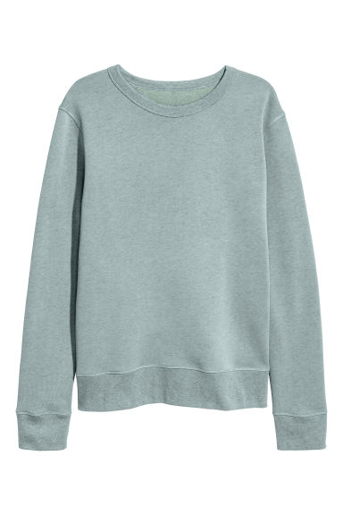 Silk-blend sweatshirt - Light petrol - Men | H&M CN 1