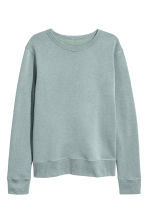 Silk-blend sweatshirt - Light petrol - Men | H&M 2