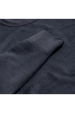 Silk-blend sweatshirt - Dark blue - Men | H&M CN 2