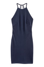 Bodycon dress - Dark blue - Ladies | H&M CN 2