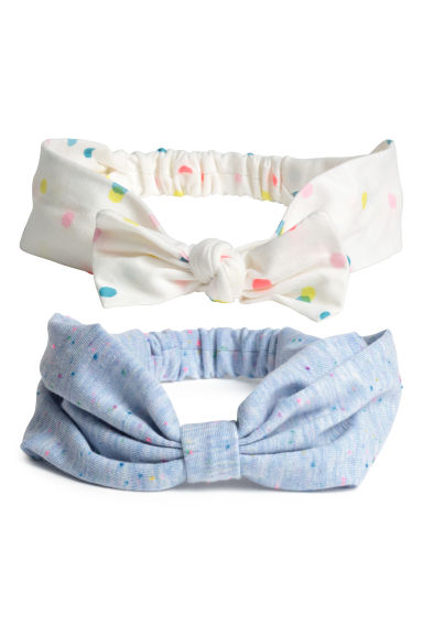 2-pack hairbands - White/Spotted - Kids | H&M CN