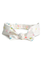 2-pack hairbands - White/Spotted - Kids | H&M CN 2