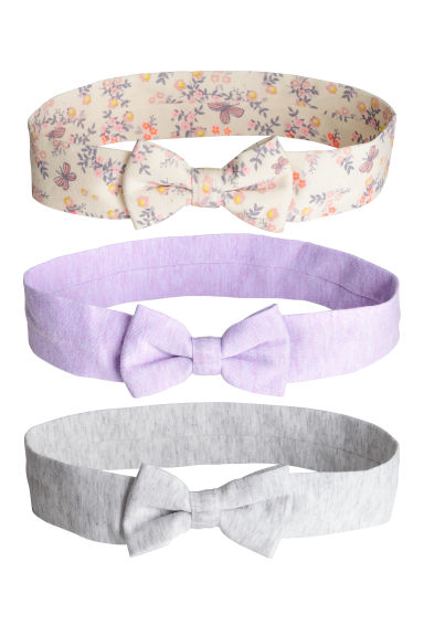 3-pack hairbands - Purple - Kids | H&M CN 1