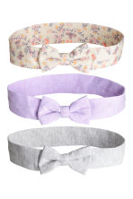 3-pack hairbands - Purple - Kids | H&M 1