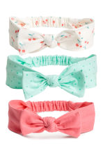 3-pack hairbands - White/Cherry - Kids | H&M 1
