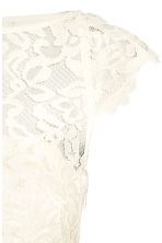 Maxi dress with lace bodice - Natural white - Ladies | H&M CN 3