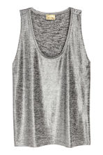 Shimmering vest top - Silver - Ladies | H&M 2