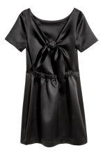 Satin dress - Black - Ladies | H&M 3