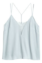 Strappy top with lace - Light blue - Ladies | H&M 2