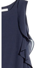 Crêpe dress - Dark blue - Ladies | H&M CN 3