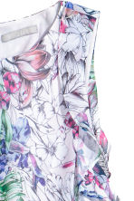 Crêpe dress - Powder pink/Floral -  | H&M CN 3