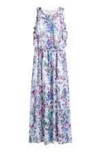 Crêpe dress - Powder pink/Floral -  | H&M CN 2