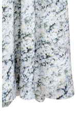 Long silk skirt - White/Patterned -  | H&M IE 3