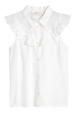 Sleeveless frilled blouse - White - Kids | H&M CN 2