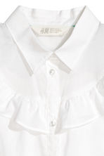 Sleeveless frilled blouse - White - Kids | H&M CN 3