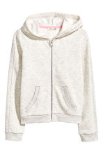 Hooded jacket - Light beige marl - Kids | H&M 2