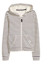 Hooded jacket - Natural white/Striped - Kids | H&M 2