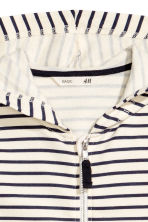 Hooded jacket - Natural white/Striped - Kids | H&M CN 3