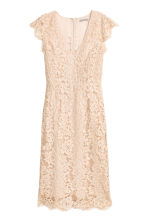 Lace dress - Light beige - Ladies | H&M 2