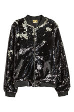 Sequined jacket - Silver/Black -  | H&M 2