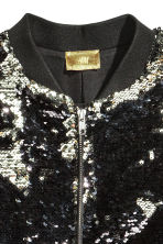 Sequined jacket - Silver/Black -  | H&M 3