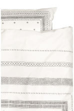 Set copripiumino in cotone - Bianco/fantasia - HOME | H&M IT 3