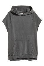 Sleeveless hooded top - Dark grey - Men | H&M 2